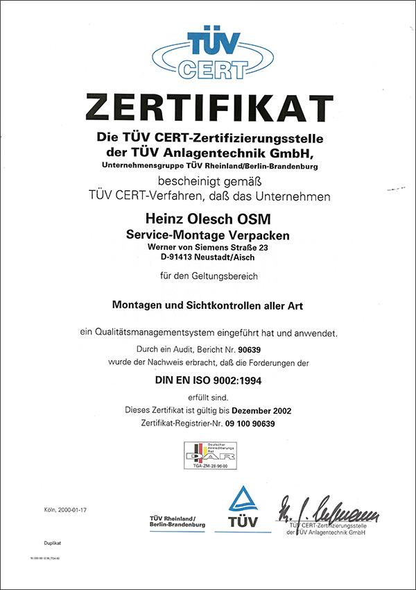 DIN EN ISO 9002:1994